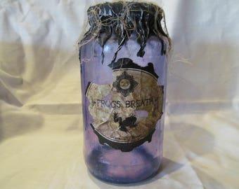 Halloween Potion Bottle/Jar Frogs Breath