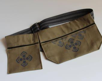 Unisex Festival Pocket Zipper Hip Bag Utility Belt