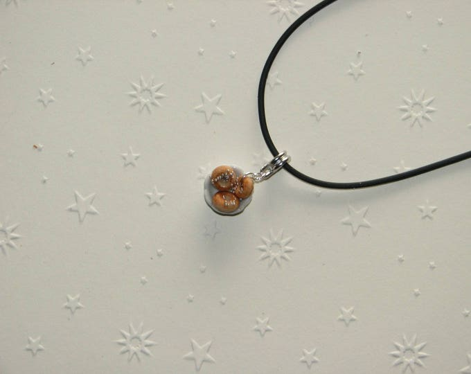 Necklace small bowl of Christmas ref 169 Donuts
