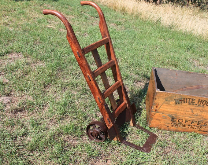 Antique Nutting Two Wheel Truck Dolly, Industrial Cart, Industrial Decor
