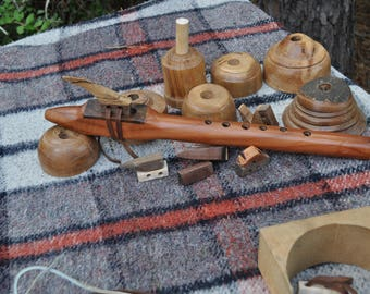Redwood with  Walnut Native American style flute in high B by CBF