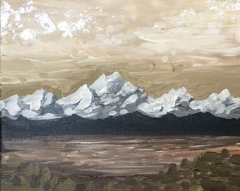 Fall on the Sound / Mountain Painting