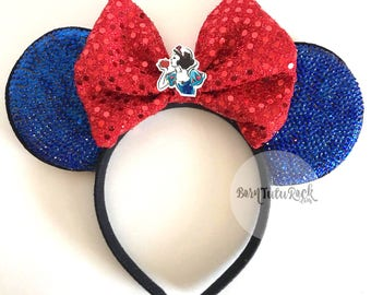 Snow White Mouse Ears // Bling Mouse Ears // READY to SHIP // by Born Tutu Rock