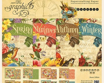 "Graphic 45 ""Seasons""  12 x 12 Paper Pad"