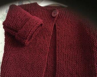 baby cardigan pure wool