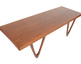 Danish Mid Century Modern Kurt Østervig Teak Coffee Table