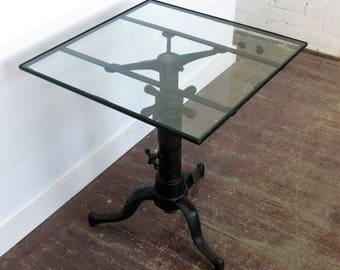 Vintage Industrial Satellite Table Adjustable