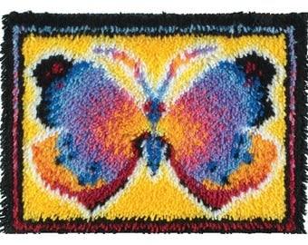 Butterfly Fantasy Latch Hook Rug Kit Wonderart 426143