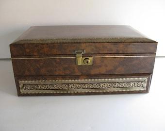 MELE JEWELRY BOX/ Jewelry Storage Box/Ladies Jewelry Case/Jewelry Storage Case/Jewelry Box/Vintage Jewelry Box/Jewelry Case