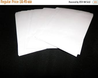 On Sale 100 Flat White 5x7 Paper Kraft Merchandise Bags, Retail Bags ,100 White Kraft Party favor Bags
