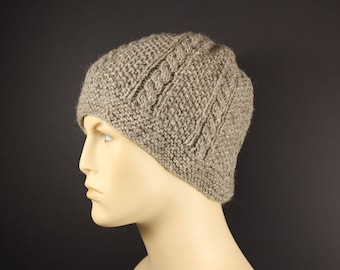 Handknit Classic Fisherman Hat for Man or Woman of Shetland Wool