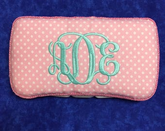 Personalized Travel Wipe Case for girl