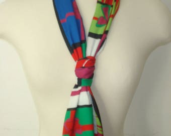 Vintage Echo Present Christmas Long Scarf - Festive - Bright Scarves - Womens Accessories