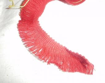WOOL BRAID DARK RED FRINGES