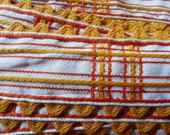 STRIPE COTTON EMBROIDERED WIDE
