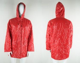 Red pvc jacket | Etsy