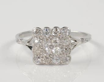 Art Deco 1.60 Ct old cut diamond gorgeous ring