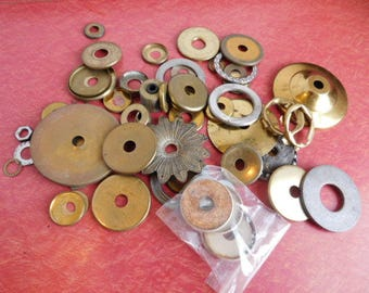 Lot of Vintage LAMP RINGS Replacement Parts