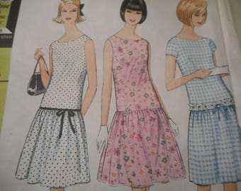 Vintage 1960's McCall's 8241 Dress Sewing Pattern Size 12 Bust 32