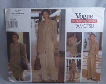 Vintage Vogue Career Wardrobe Pattern 1437 by Tamotsu Factory Fold