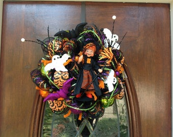 Small Witch Mesh Wreath