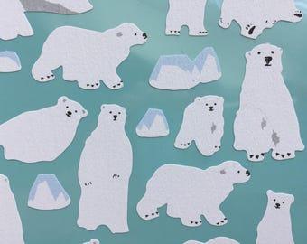 Kawaii Bear Stickers - Polar Bear & Iceburg