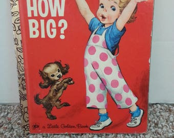 Vintage How Big? Little Golden Book, Corrine Malvern