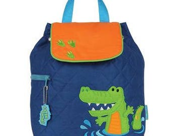 Personalized Stephen Joseph Alligator Quilted Backpack
