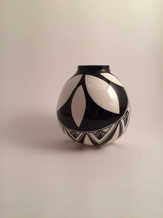 Small Round Asymmetrical pot #17