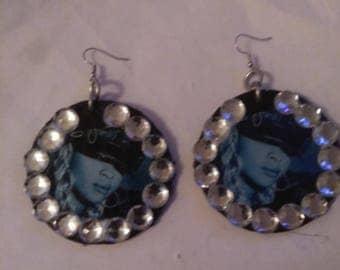 Bling mary j earrings medium
