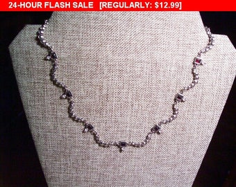 Vintage Rhinestone necklace choker, estate jewelry