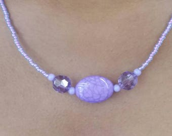 Purple-licious Beaded Necklace