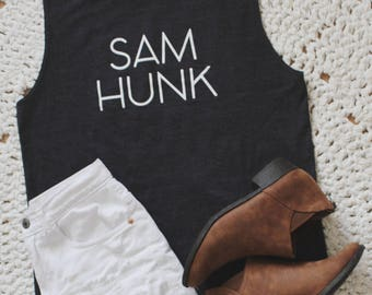 SAM HUNK Muscle Tank- Dark Heather Gray // Special Edition