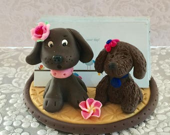 Business card holder for pet grooming, pet hospital, Veterinerian,dogs, Yorkie dog, Animal business card holder, desktop card holder.
