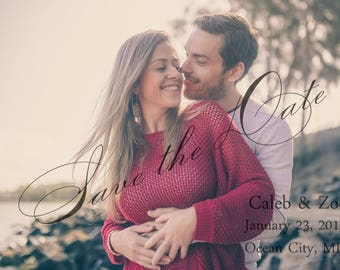 Save the date customizable. We customize and you print.  Wedding announcement. Wedding invitation.
