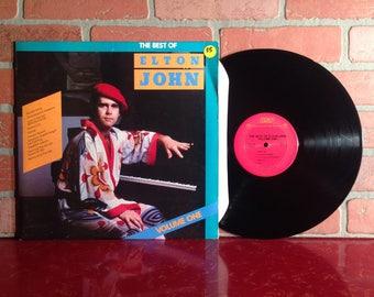 Elton John The Best Of Vinyl Record Album LP 1981 Bennie And the Jets Greatest Hits Classic Rock Pop Music Vintage