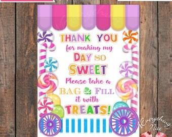 Candy Shoppe Theme Treats Get Treats Sign