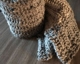 Hand made no purl scarf