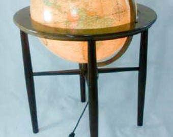 """Mid Century / Replogle / Heirloom  / 16"""" Illuminated  / Floor Globe / World Globes / Mid century modern Decor"""