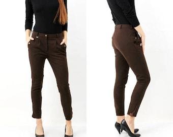 SALE Vintage Brown CRW Riding Pants / Equestrian Pants Size 40
