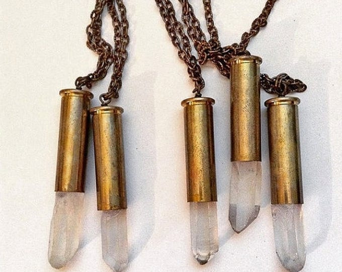 GIFT SALE 357 Mag Bullet Shell Pendant or Necklace