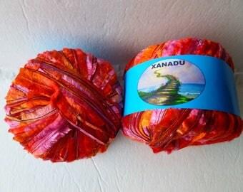 Yarn Sale  - Flame 8432 Xanadu by Kniting Fever yarn
