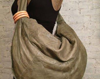 80s Huge Leather Hobo Bag - The Perfect Shoulder Bag