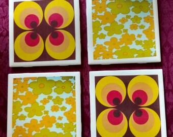 Retro 70's-Style Coasters