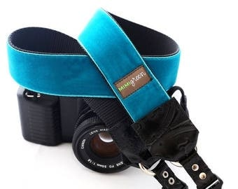 ON SALE The Zack Velvet Camera Strap with Quick Release Buckles -- 1.5 inches wide