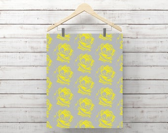 Yellow Rose Pattern, Instant Download