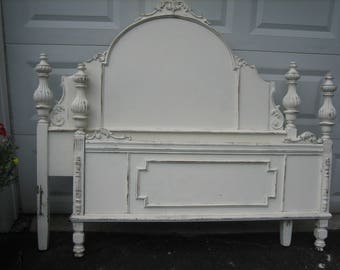 stunning shabby chic full size vintage bed