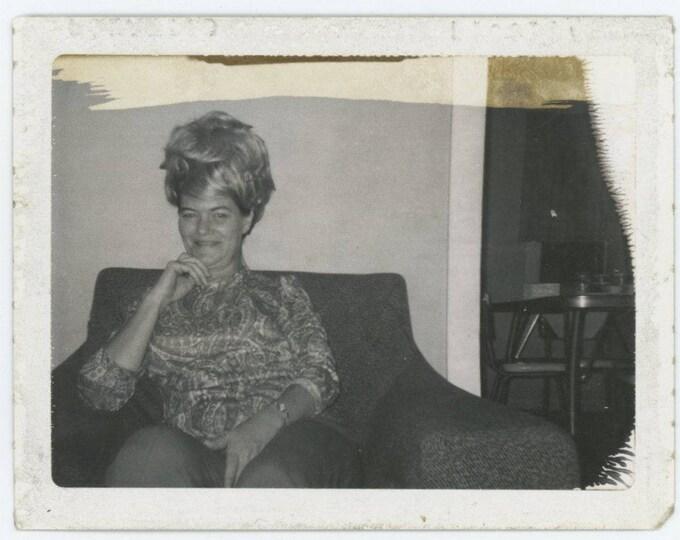 Vintage Polaroid Photo Snapshot: Wig, 1960s (76586)
