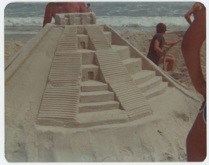 Vintage Snapshot Photo: Mayan Sandcastle (81635]