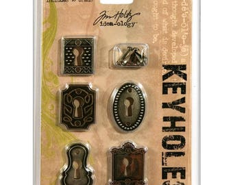 KEYHOLE COVERS - TiM HOLTZ - Ideaology Antique Look BRaSS, CoPPER, BRoNZE Ornate Covers - 5 pack
